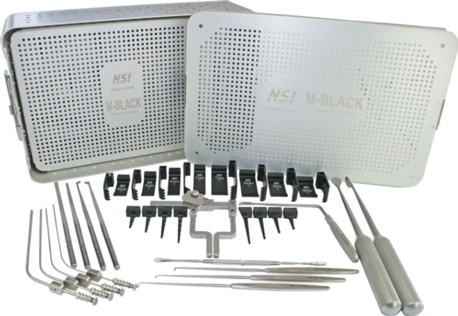 Lumbar Retractor Systems - Clear-Line™ M-Black Microdiscectomy Set [click to enlarge]
