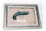 To Framing the smallest little framed item like this neat little Antique Pistol!