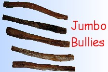 Dog Chews - Bully Sticks for Dogs Jumbo 6 inch long, 12 inch long