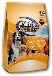 Normal Adult Dry Dog Food - Nutrisource Adult Lamb and Rice 18 or 33 pounds [click to enlarge]