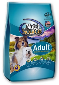 Normal Adult Dry Dog Food - Nutrisource Adult Chicken and Rice Dog [click to enlarge]