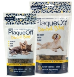 Dental - Plaque Off Dental Bites Dogs and Cats-60 or 150 gram bag [click to enlarge]