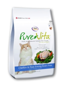 Dry Cat Food - Pure Vita Grain Free Chicken Dry Cat Food [click to enlarge]