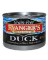 Canned Dog Food - Evanger's Grain Free Duck Dog 6 oz.