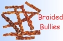 Dog Chews - Bully Sticks for Dogs Braided 6 inch long
