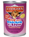 Canned Dog Food - Evanger's Classic Beef, Chicken and Liver Dog 13 oz.