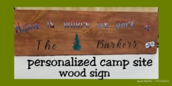 New Event - Personalized camp site wood signs