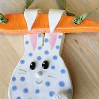 New Event - Clay Bunny Plaque