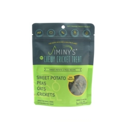 Jiminy's Original Cricket Cookie - Jiminy's Peas & Sweet Potato Recipe (6 Oz) Soft & Chewy, Training Treats [click to enlarge]