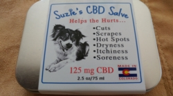 Buy Suzie's Treats, Tinctures & Salve - Suzie's 125 mg or 50 mg Salve-Helps The Hurts for Dogs, Cats and Humans-2.5 ounce or 1 ounce sizes [click to enlarge]