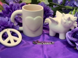 """Discount Party-Pack Ceramics """"To Go"""" - 'Peace, Love & Unicorns' Party pack"""