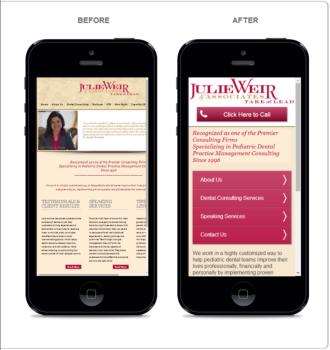 Mobile website advantage
